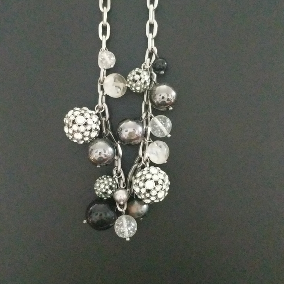 Kate Spade Silver Rhinestone Bauble Necklace